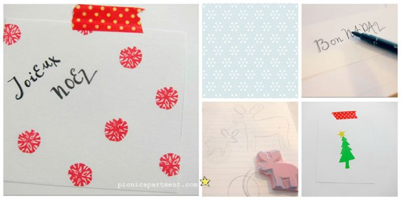 Stamping Christmas cards